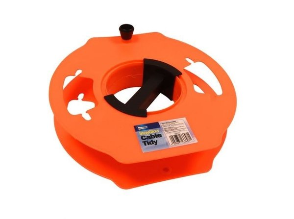 Hook Up Extension Cord Wheel Cable Tidy - Neon Orange